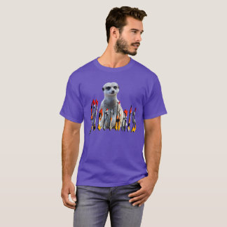 Meerkat With Meerkats Logo, T-Shirt