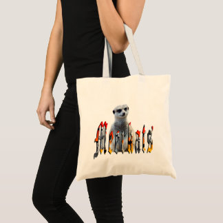 Meerkat With Meerkats Logo, Tote Bag