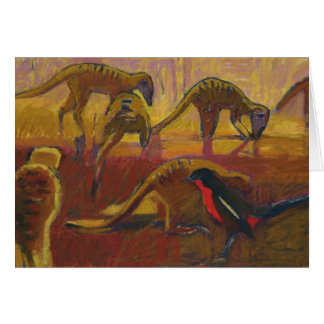 Meerkats and shrike - Card