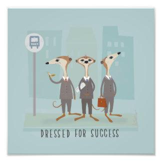 Meerkats in Suits Art Photo Print
