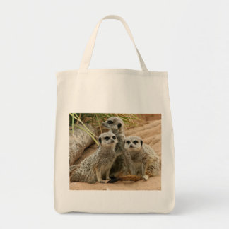 Meerkats on the lookout Organic tote