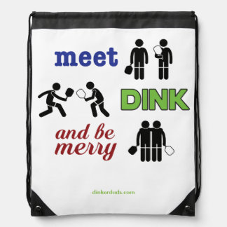 """Meet, Dink, and Be Merry"" Pickleball Backpack"