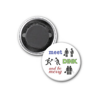 """Meet, Dink, and be Merry"" Pickleball Magnet"