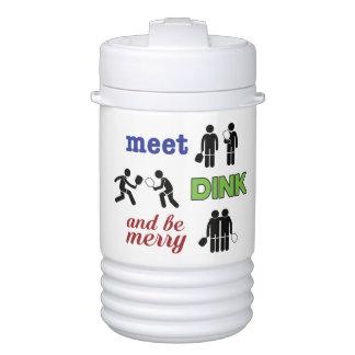 """Meet, Dink, and Be Merry"" Pickleball Water Jug Drinks Cooler"