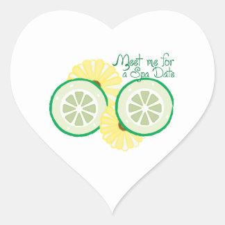 Meet for a Spa Date Heart Sticker