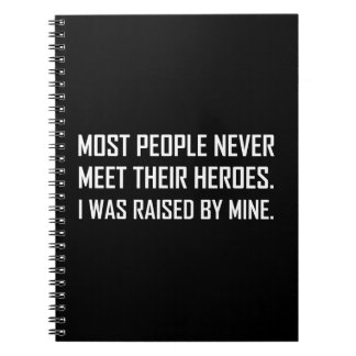 Meet Heroes Raised By Mine Notebook
