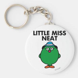 Meet Little Miss Neat Basic Round Button Key Ring