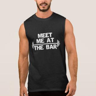 Meet me at the bar - barbell Shirt