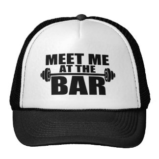 Meet me at the bar funny gym hat