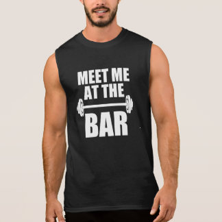 Meet me at the Bar funny workout tank