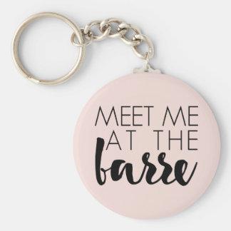 Meet Me at the Barre   Blush Pink Ballet Key Ring