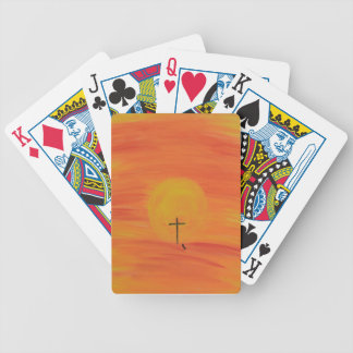 Meet Me At The Cross Bicycle Playing Cards