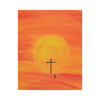 Meet Me At The Cross Canvas Print