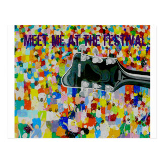 Meet me at the festival postcard