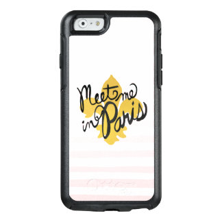 Meet Me in Paris Black and Gold OtterBox iPhone 6/6s Case