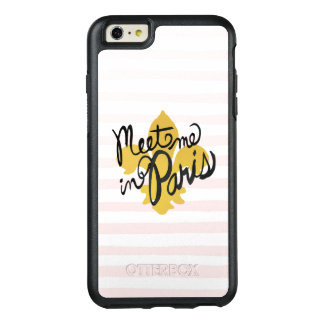 Meet Me in Paris Black and Gold OtterBox iPhone 6/6s Plus Case