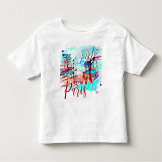 Meet Me in Paris France Eiffel Tower Watercolor Toddler T-Shirt
