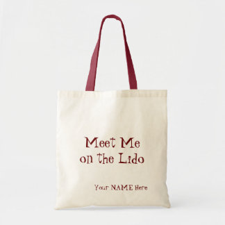 Meet Me on the Lido Personalized Tote Bag