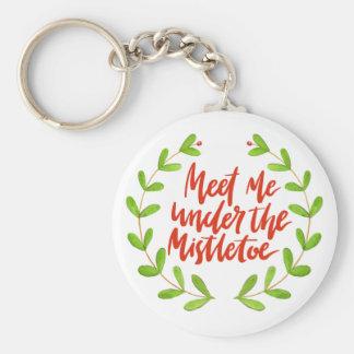 Meet me under the mistletoe - Romantic Christmas Key Ring