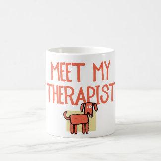Meet My Therapist Ceramic Dog Mug