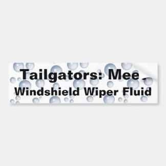 Meet My Windshield Fluid Bumper Sticker