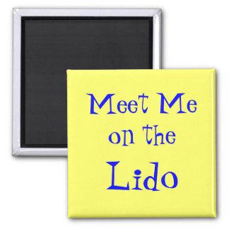 Meet on Lido Cruise Magnet yellow