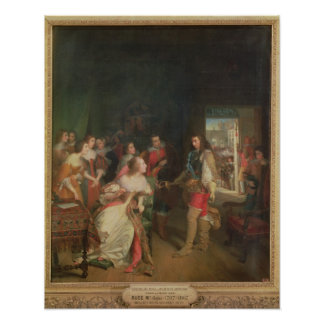 Meeting Between Louis II  de Bourbon Poster