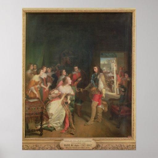 Meeting Between Louis II  de Bourbon Posters