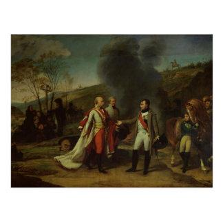 Meeting between Napoleon I & Francis I Postcard