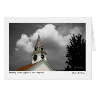 Meeting House Mindscape Greeting Card