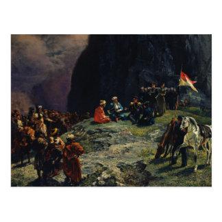 Meeting of Gen.Kluke von Klugenau & Imam Postcard