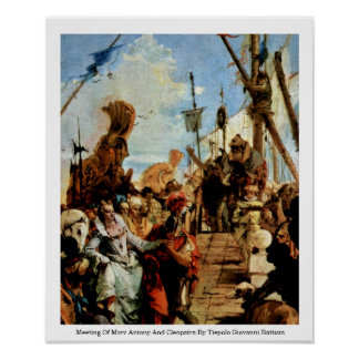 Meeting Of Marc Antony And Cleopatra Poster