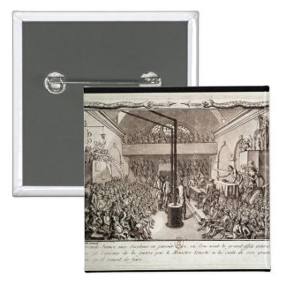 Meeting of the Jacobin Club, January 1792 15 Cm Square Badge