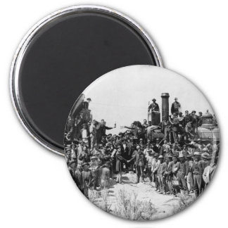 Meeting of the Rails - Promontory Point Utah 1869 6 Cm Round Magnet