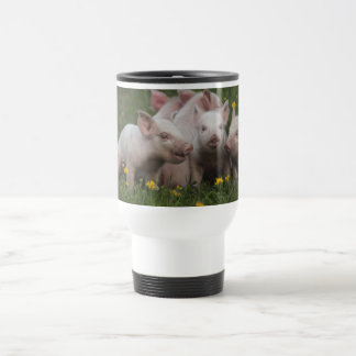 Meeting of the Three Little Pigs Stainless Steel Travel Mug