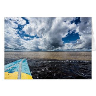 Meeting Of Waters In Peru Greeting Card
