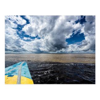 Meeting Of Waters In Peru Postcard