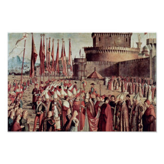Meeting The Pilgrims With The Pope By Carpaccio Poster