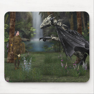 Meeting with the dragon mouse pad