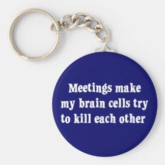 Meetings make me brain dead (2) key ring
