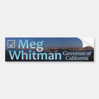 Meg Whitman for Governor - Color Bumper Sticker