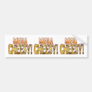 Mega Blue Cheesy Bumper Sticker