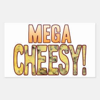 Mega Blue Cheesy Rectangular Sticker