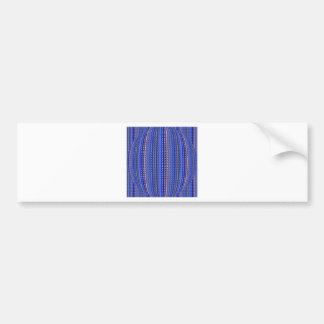 Mega Bright Colorful Purple Geometric Design Bumper Sticker