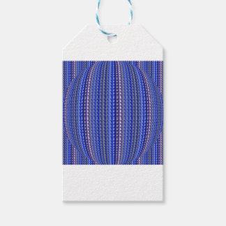 Mega Bright Colorful Purple Geometric Design Gift Tags