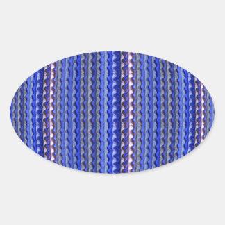 Mega Bright Colorful Purple Geometric Design Oval Sticker