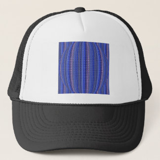 Mega Bright Colorful Purple Geometric Design Trucker Hat