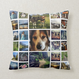 Mega Deluxe 27 Instagram Photos Collage Cushion