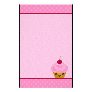 Mega Kawaii Cherry Cupcake Stationery