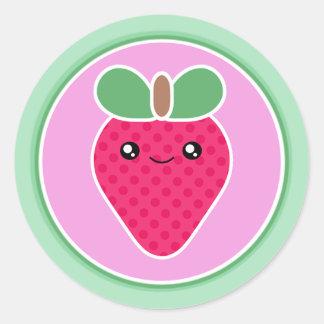 Mega Kawaii Sweet Strawberry Round Sticker